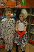 Cruella with her dalmation