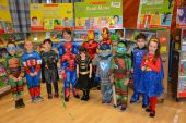 Lots of Super Heroes in school today!